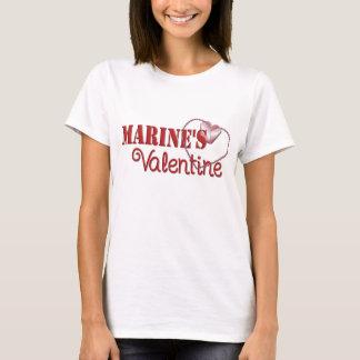 T-shirt Valentine de la marine
