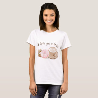 T-shirt Valentine mignon Latte