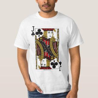 T-shirt Valet de trèfle la carte de jeu