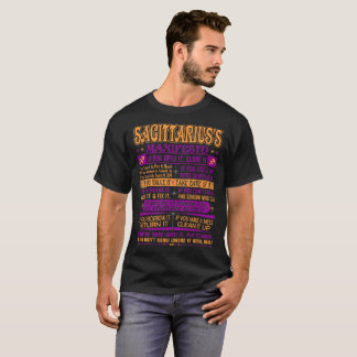 T-shirt Valeur de manifeste de Sagittaire il prennent soin