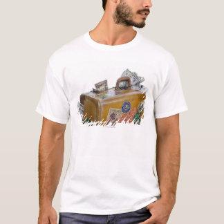 T-shirt Valise antique avec de l'argent saillant