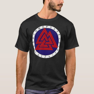 T-shirt Valknot avec Futhark plus ancien
