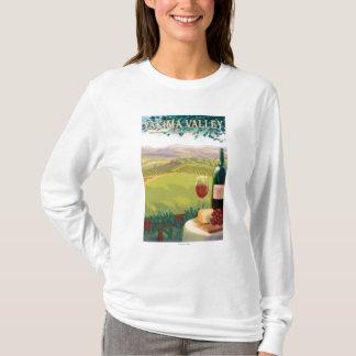 T-shirt Vallée de Yakima, pays de WashingtonWine