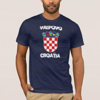 T-shirt Valpovo, Croatie avec le manteau des bras