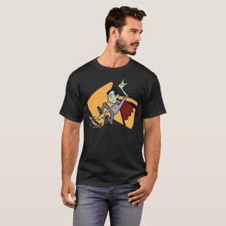 T-shirt Vampire faisant de la planche à roulettes de rad