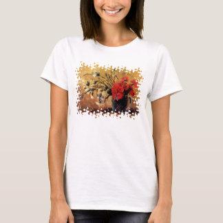 T-shirt Van Gogh - vase avec les oeillets rouges et blancs