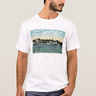 T-shirt Vapeur de Mt. Washington au quai de Wolfeboro