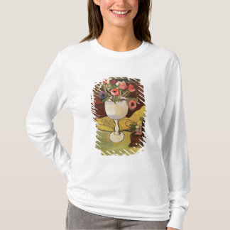 T-shirt Vase de fleurs, anémones dans un verre blanc