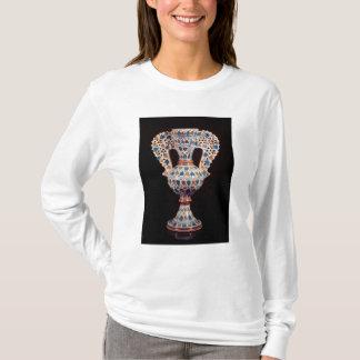 T-shirt vase Étain-vitré avec la décoration de lustre
