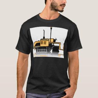 T-shirt Vecteur de machine à paver d'asphalte