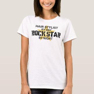 T-shirt Vedette du rock de coiffeur par nuit