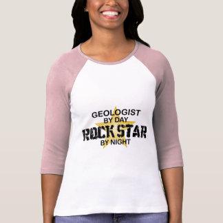 T-shirt Vedette du rock de géologue par nuit