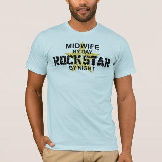 T-shirt Vedette du rock de sage-femme par nuit
