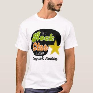 T-shirt Vedette du rock par nuit - archiviste du travail