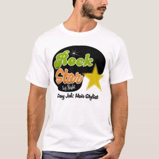 T-shirt Vedette du rock par nuit - coiffeur du travail de