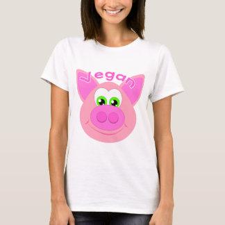 T-shirt Vegan doux porc/Pig/Go Vegan