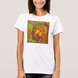 T-shirt Vegan fruits monkey