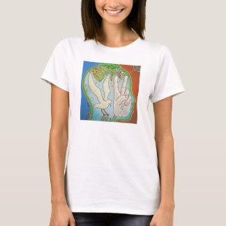 T-shirt Vegan V wings hand