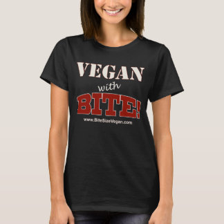 T-shirt Végétalien avec la morsure ! Pièce en t légère des