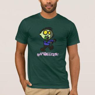 T-shirt végétalien d'obscurité de zombi