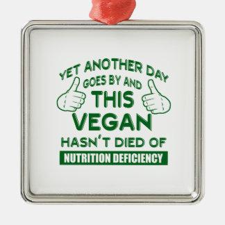 T-shirt végétalien drôle ornement carré argenté