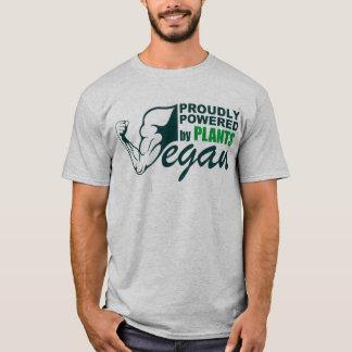 T-shirt Végétalien : Fièrement actionné par des plantes