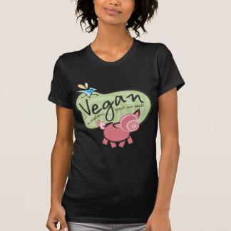 T-shirt végétalien mignon de message