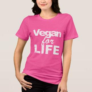 T-shirt Végétalien pendant la VIE (blanche)