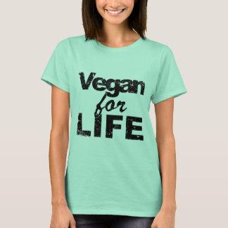 T-shirt Végétalien pendant la VIE (noir)