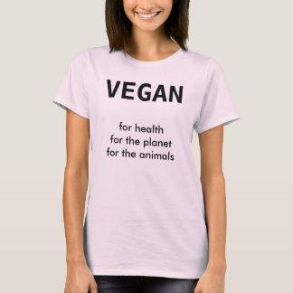 T-shirt VÉGÉTALIEN, pour la santé pour la planète pour les