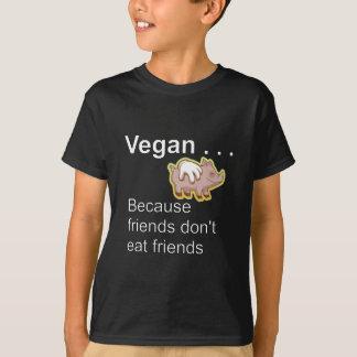 T-shirt Végétalien - puisque les amis ne mangent pas des