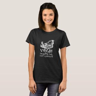 T-shirt Végétalien - puisque mon corps n'est pas un