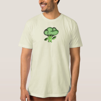 T-shirt végétalien traditionnel organique de brocoli