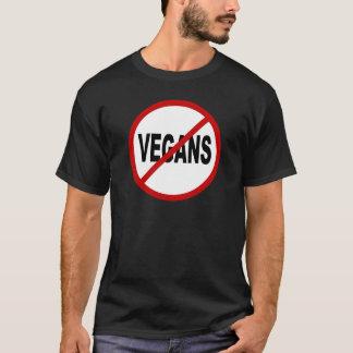 T-shirt Végétaliens de la haine Vegans/No permis la