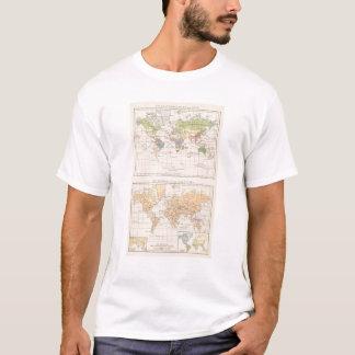 T-shirt Vegetationsgebiete, carte d'atlas de Thiere