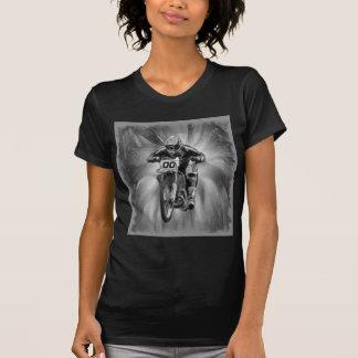 T-shirt Vélo de saleté soufflant par noir/blanc