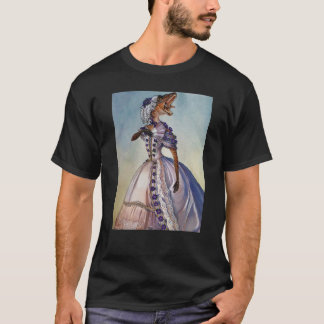 T-shirt Velociraptor victorien