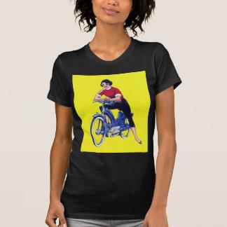 T-shirt Vélomoteur vintage gallon de moto de femmes de les