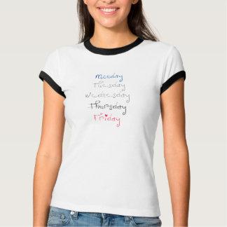 T-shirt Vendredi je suis dans la pièce en t d'amour (texte