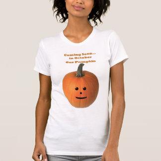 T-shirt Venez bientôt… En octobre notre citrouille