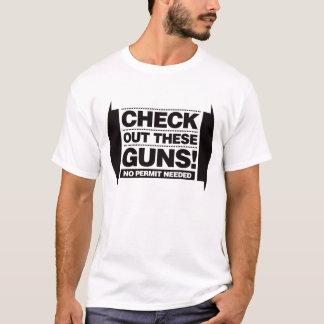 T-shirt Vérifiez ces armes à feu - noir