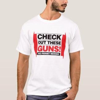 T-shirt Vérifiez ces armes à feu - rouge et noir