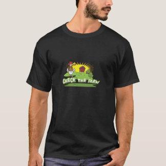T-shirt vérifiez le logo de ferme