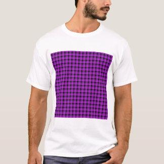 T-shirt Vérifiez le motif. Pourpre et noir
