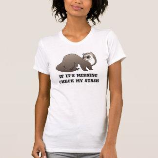 T-shirt vérifiez ma chemise de furet de cachette