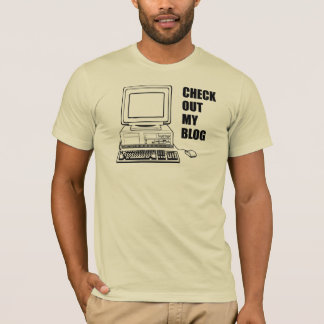 T-shirt Vérifiez mon blog ! Drôle