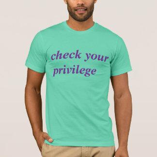 T-shirt vérifiez votre privilège