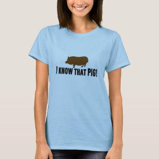 T-shirt Véritable ~ de sang je connais ce porc