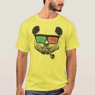 T-shirt Verres à trois dimensions de panda vintage