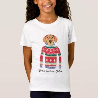 T-Shirt Verres de port de chien drôle, chandail laid de